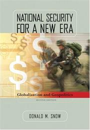 Cover of: National Security for a New Era | Donald Snow