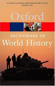 Cover of: Oxford Dictionary of World History | Market House Books