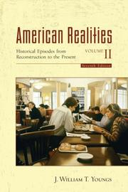 Cover of: American Realities, Volume II | J. William T. Youngs