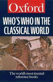 Cover of: Who's who in the classical world by Simon Hornblower