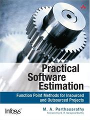 Cover of: Practical Software Estimation | M. A. Parthasarathy