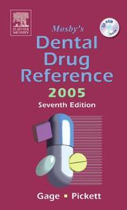 Cover of: Mosby's Dental Drug Reference 2005 (Mosby's Dental Drug Consult) by Frieda Atherton Pickett