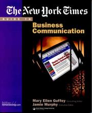 Cover of: The New York Times Guide to Business Communication by Mary Ellen Guffey