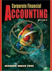 Cover of: Corporate Financial Accounting by James M. Reeve