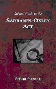 Cover of: Guide to the Sarbanes-Oxley Act by Robert A. Prentice