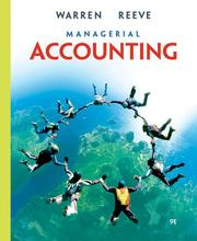 Cover of: Managerial Accounting | James M. Reeve