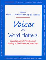 Cover of: Voices on Word Matters | Irene C. Fountas