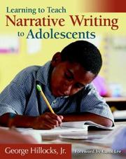 Cover of: Narrative Writing | Jr., George Hillocks