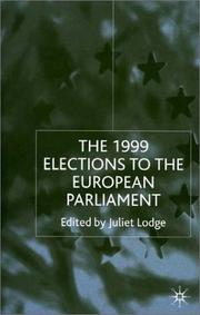 Cover of: The 1999 Elections To the European Parliament | Juliet Lodge