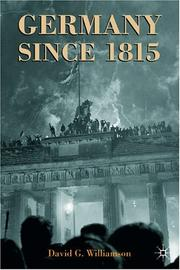 Cover of: Germany Since 1815 | David G. Williamson