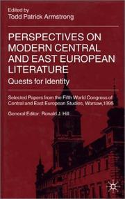 Cover of: Perspectives On Modern Central and East European Literature: Quests for Identity | Todd Patrick Armstrong