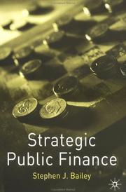 Cover of: Strategic Public Finance by Stephen J. Bailey