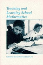 Cover of: Teaching and Learning School Mathematics | D. and Love Pimm