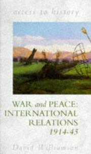 Cover of: War and Peace by D.G. Williamson