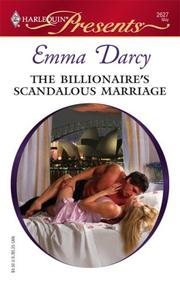 Cover of: The Billionaire's Scandalous Marriage by Emma Darcy