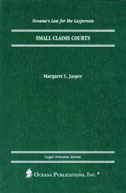 Cover of: Small Claims Court (Oceana's Legal Almanac Series  Law for the Layperson) | Margaret Jasper