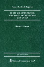 Cover of: Co-ops and Condominiums (Oceana's Legal Almanac Series  Law for the Layperson) by Margaret Jasper