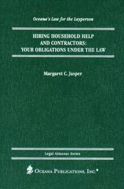 Cover of: Hiring Household Help and Contractors | Margaret Jasper