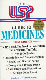 Cover of: The USP Guide to Medicines by United States Pharmacopeia