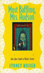 Cover of: Most Baffling, Mrs. Hudson | Sydney Hosier