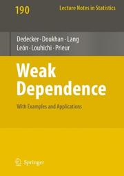 Cover of: Weak Dependence by Paul Doukhan