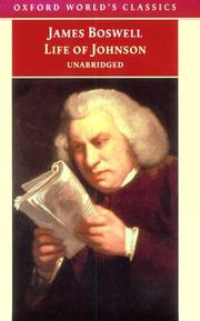 Cover of: Life of Samuel Johnson by James Boswell