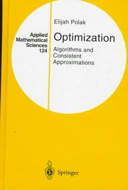 Cover of: Optimization by E. Polak