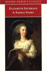 Cover of: A Simple Story | Elizabeth Inchbald