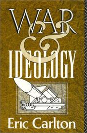 Cover of: War and ideology | Eric Carlton