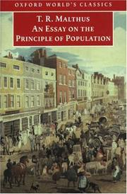 Cover of: Essay on the principle of population by Malthus, T. R.