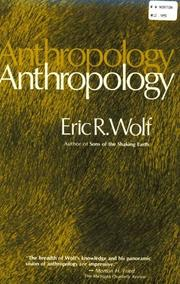 Cover of: Anthropology by Eric R. Wolf