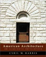 Cover of: American Architecture by Cyril M. Harris