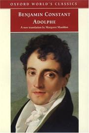 Cover of: Adolphe by Benjamin Constant