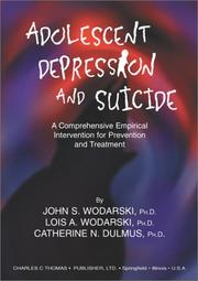 Cover of: Adolescent Depression and Suicide by John S. Wodarski