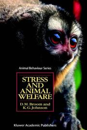 Cover of: Stress and animal welfare by Donald M. Broom