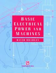 Cover of: Basic electrical power and machines by D. A. Bradley