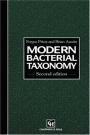 Cover of: Modern bacterial taxonomy | F. G. Priest