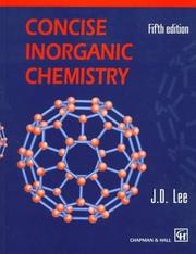 Cover of: Concise inorganic chemistry | J. D. Lee