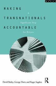 Cover of: Making transnationals accountable | Bailey, David