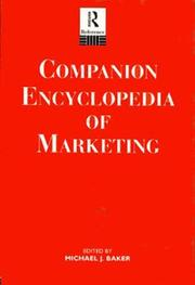 Cover of: Companion Encyclopedia of Marketing | Michael J. Baker