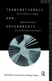 Cover of: Transnationals and governments | Bailey, David