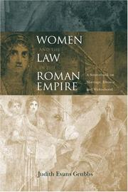 Cover of: Women and the Law in the Roman Empire by Ju Evans Grubbs