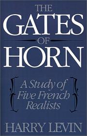 Cover of: The Gates of Horn | Harry Levin