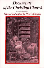 Cover of: Documents of the Christian Church | Henry Bettenson