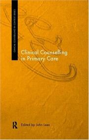Cover of: Clinical counselling in primary care |