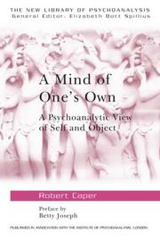 Cover of: A mind of one's own | Robert Caper