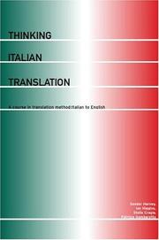 Cover of: Thinking Italian translation | Sándor G. J. Hervey