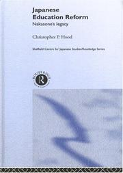 Cover of: Japanese Education Reform | Christophe Hood