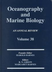 Cover of: Oceanography and Marine Biology Volume 38 by R. N. Gibson