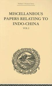 Cover of: Miscellaneous Papers Relating to Indo-China by Rost, Reinhold